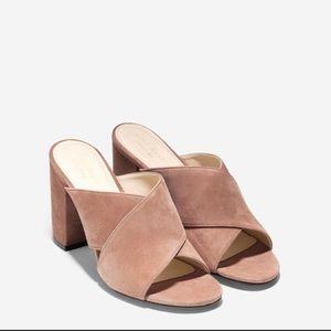 Gabby suede block heel sandal